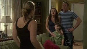 Steph Scully, Libby Kennedy, Ben Kirk, Karl Kennedy in Neighbours Episode 5402