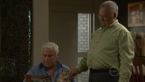 Lou Carpenter, Harold Bishop in Neighbours Episode 5410