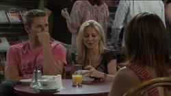 Dan Fitzgerald, Samantha Fitzgerald, Libby Kennedy in Neighbours Episode 5432