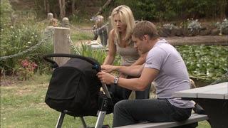 Samantha Fitzgerald, Dan Fitzgerald, Chloe Cammeniti in Neighbours Episode 5450