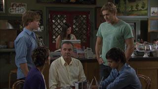 Ringo Brown, Karl Kennedy, Dan Fitzgerald, Zeke Kinski, Susan Kennedy in Neighbours Episode 5483