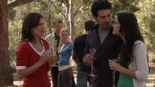 Rebecca Napier, Oliver Barnes, Elle Robinson, Marco Silvani, Carmella Cammeniti in Neighbours Episode 5485