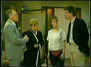 George Young, Eileen Clarke, Daphne Clarke, Des Clarke in Neighbours Episode 0123