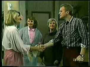 Celebrant , Julie Robinson, Helen Daniels, Jim Robinson in Neighbours Episode 0127