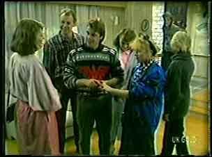 Celebrant , Jim Robinson, Shane Ramsay, Julie Robinson, Terry Inglis, Daphne Lawrence, Helen Daniels in Neighbours Episode 0127