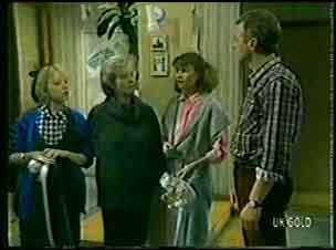 Terry Inglis, Helen Daniels, Julie Robinson, Jim Robinson in Neighbours Episode 0127