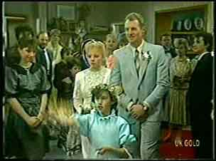 Terry Inglis, Lucy Robinson, Jim Robinson, Danny Ramsay in Neighbours Episode 0129