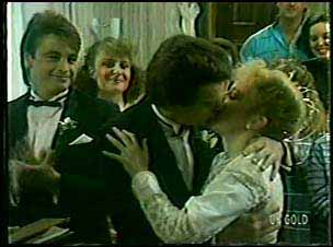 Shane Ramsay, Julie Robinson, Paul Robinson, Terry Inglis in Neighbours Episode 0129