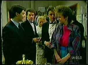 Mark Keating, Paul Robinson, Terry Inglis, Shane Ramsay, Daphne Clarke in Neighbours Episode 0130