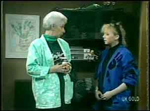 Bess Robinson, Terry Inglis in Neighbours Episode 0136