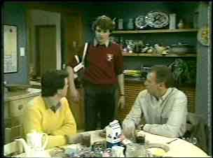 Paul Robinson, Scott Robinson, Jim Robinson in Neighbours Episode 0137