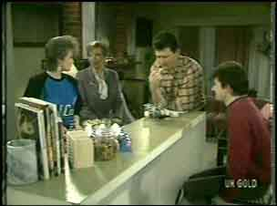 Daphne Lawrence, Eileen Clarke, Des Clarke, Danny Ramsay in Neighbours Episode 0138