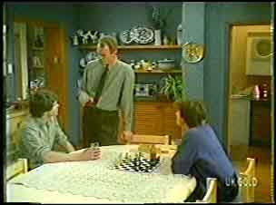 Scott Robinson, Jim Robinson, Danny Ramsay in Neighbours Episode 0142