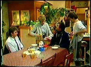 Shane Ramsay, Eileen Clarke, Max Ramsay, Danny Ramsay in Neighbours Episode 0145
