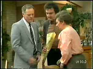 George Young, Max Ramsay, Eileen Clarke in Neighbours Episode 0146