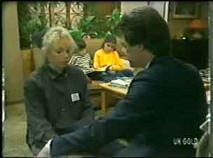 Terry Inglis, Michael Martin, Debbie Martin, Paul Robinson in Neighbours Episode 0147