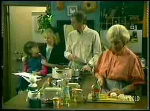 Lucy Robinson, Terry Inglis, Jim Robinson, Helen Daniels in Neighbours Episode 0149