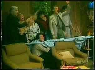 Douglas Blake, Helen Daniels, Terry Inglis, Max Ramsay, Danny Ramsay, Jim Robinson, Des Clarke in Neighbours Episode 0151