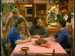 Eileen Clarke, Shane Ramsay, Max Ramsay, Danny Ramsay in Neighbours Episode 0154