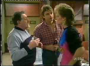 Harry Henderson, Shane Ramsay, Daphne Clarke in Neighbours Episode 0154
