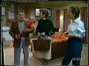 Harry Henderson, Eileen Clarke, Daphne Clarke in Neighbours Episode 0155