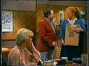 Helen Daniels, Harry Henderson, Sarah Richards in Neighbours Episode 0156