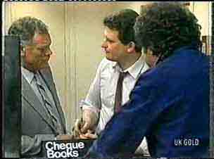 George Young, Des Clarke, Max Ramsay in Neighbours Episode 0157