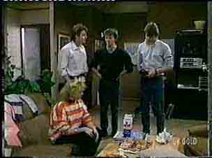 Terry Inglis, Shane Ramsay, Danny Ramsay, Scott Robinson in Neighbours Episode 0157
