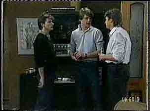 Danny Ramsay, Scott Robinson, Shane Ramsay in Neighbours Episode 0157