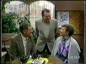 George Young, Harry Henderson, Eileen Clarke in Neighbours Episode 0158