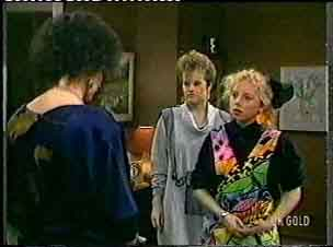 Barbara Hill, Daphne Clarke, Terry Inglis in Neighbours Episode 0159