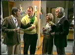Ross Warner, Jim Robinson, Helen Daniels, Douglas Blake in Neighbours Episode 0159