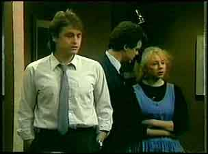 Shane Ramsay, Paul Robinson, Terry Inglis in Neighbours Episode 0161