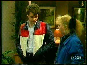 Paul Robinson, Terry Inglis in Neighbours Episode 0163