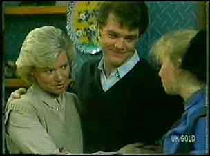 Helen Daniels, Paul Robinson, Terry Inglis in Neighbours Episode 0163