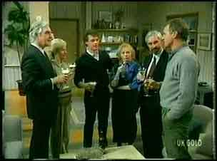 Douglas Blake, Helen Daniels, Paul Robinson, Terry Inglis, Solicitor, Jim Robinson in Neighbours Episode 0163