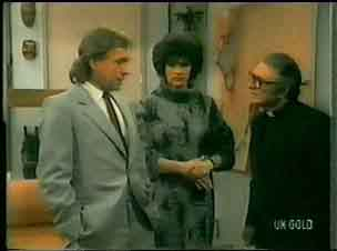 Charles Durham, Barbara Hill, Father Morgan in Neighbours Episode 0165