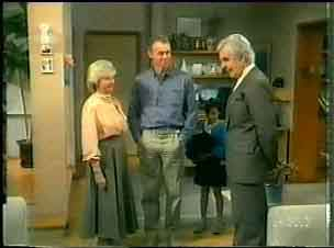 Helen Daniels, Jim Robinson, Douglas Blake in Neighbours Episode 0165