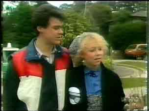 Paul Robinson, Terry Inglis in Neighbours Episode 0166