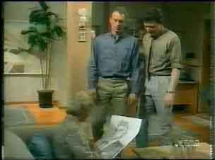 Helen Daniels, Jim Robinson, Des Clarke in Neighbours Episode 0166