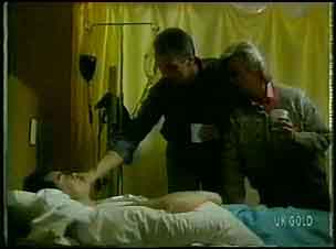 Paul Robinson, Jim Robinson, Helen Daniels in Neighbours Episode 0168