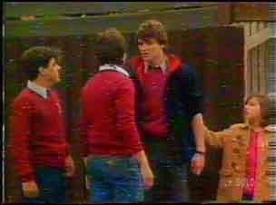 Yob #1, Yob #2, Scott Robinson, Lucy Robinson in Neighbours Episode 0169