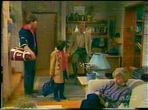 Scott Robinson, Lucy Robinson, Jim Robinson, Helen Daniels in Neighbours Episode 0169