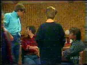 Scott Robinson, Danny Ramsay, Daphne Clarke, Shane Ramsay in Neighbours Episode 0169