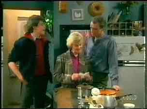 Scott Robinson, Helen Daniels, Jim Robinson in Neighbours Episode 0170