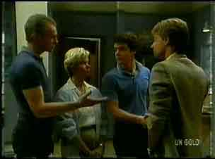 Jim Robinson, Helen Daniels, Paul Robinson, Stephen Prince in Neighbours Episode 0173