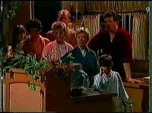 Paul Robinson, Daphne Clarke, Jim Robinson, Helen Daniels, Des Clarke, Lucy Robinson in Neighbours Episode 0174