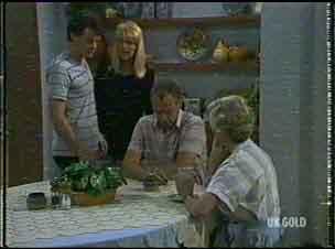 Paul Robinson, Carol Naylor, Jim Robinson, Helen Daniels in Neighbours Episode 0176