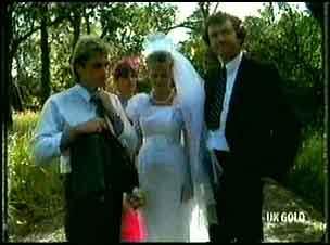 Shane Ramsay, Zoe Davis, Daphne Clarke, Max Ramsay in Neighbours Episode 0180