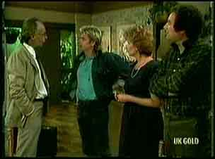 Mr. Sanderson, Shane Ramsay, Madge Bishop, Max Ramsay in Neighbours Episode 0181